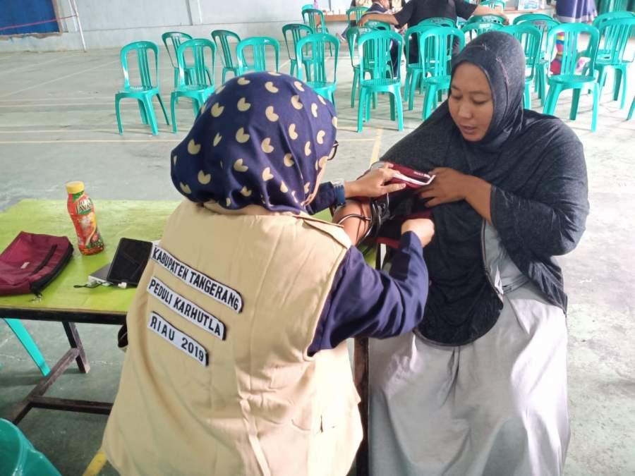 Bantu Warga Riau, Relawan Tangerang Buka Pemeriksaan Kesehatan Gratis