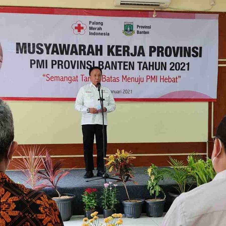 Kabiddokkes Polda Banten Hadiri Musyawarah Kerja PMI Provinsi Banten
