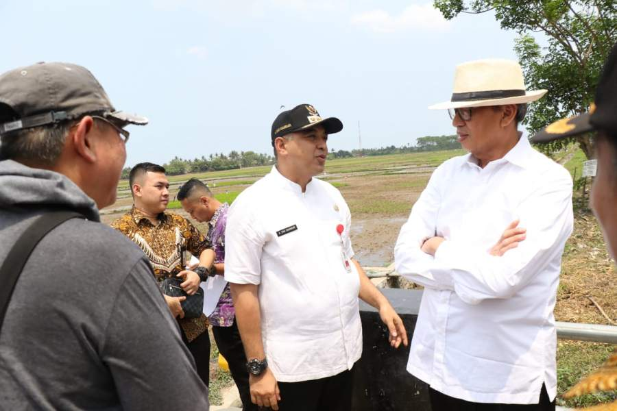 Gubernur Banten dan Bupati Tangerang Tinjau Lahan Asrama Haji Banten