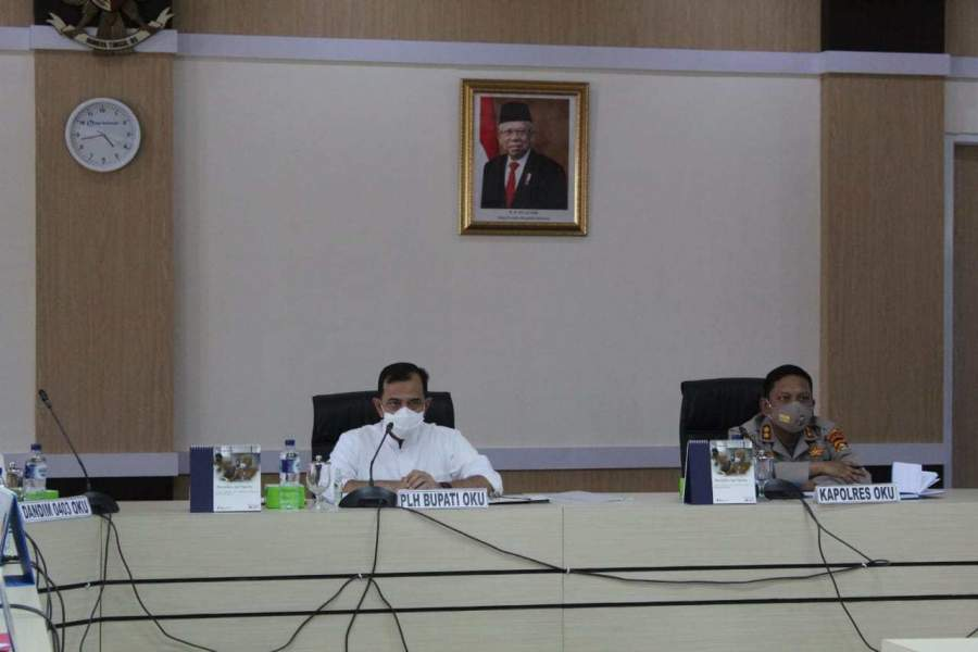 Plh Bupati OKU Pimpin Rapat Pelaksanaan PPKM di Kabupaten OKU