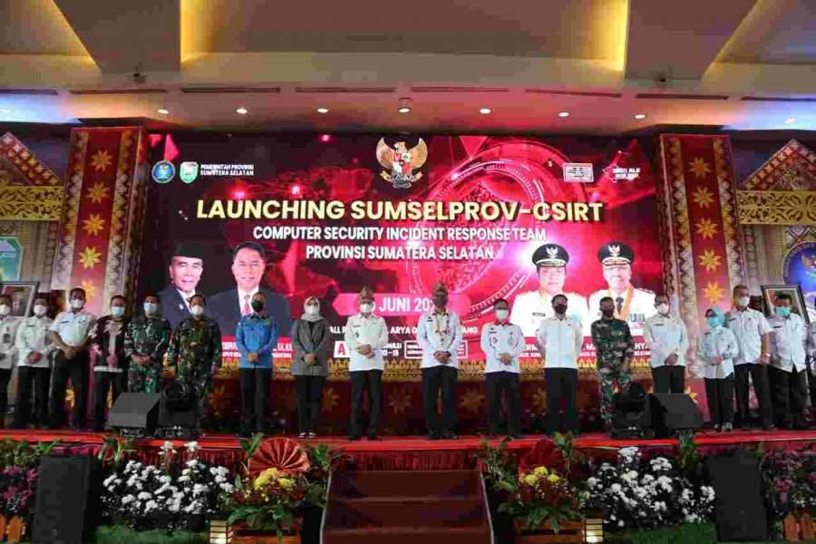 Plh Bupati OKU Hadiri Acara Launching Sumselprov-csirt Tahun 2021