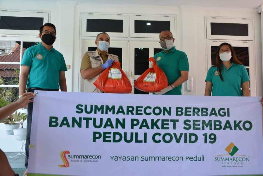 Bupati Tangerang Terima Langsung Bantuan CSR Dari Summarecon Serpong, Dan PT. Bali Tower