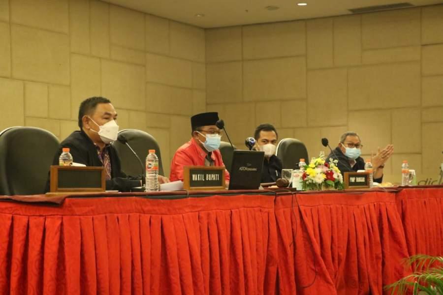 Wakil Pimpin Jajaran Eksekutif Rapat Pembahasan raperda APBD 2020