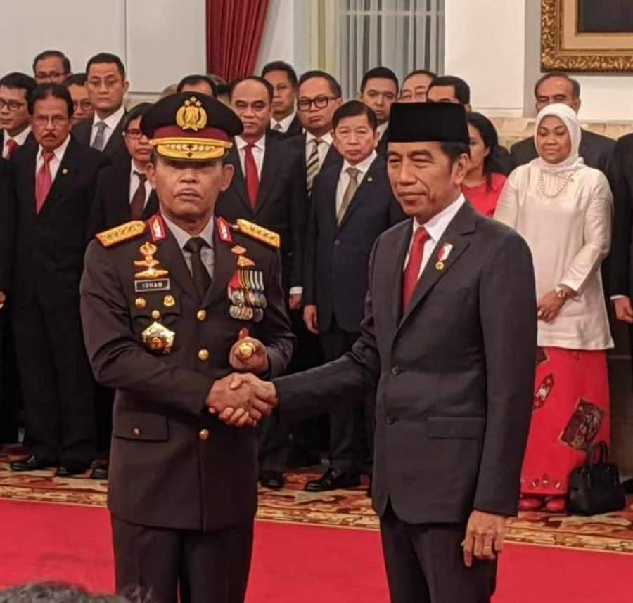Presiden Jokowi Resmi Lantik Komjen Idham Aziz Sebagai Kapolri