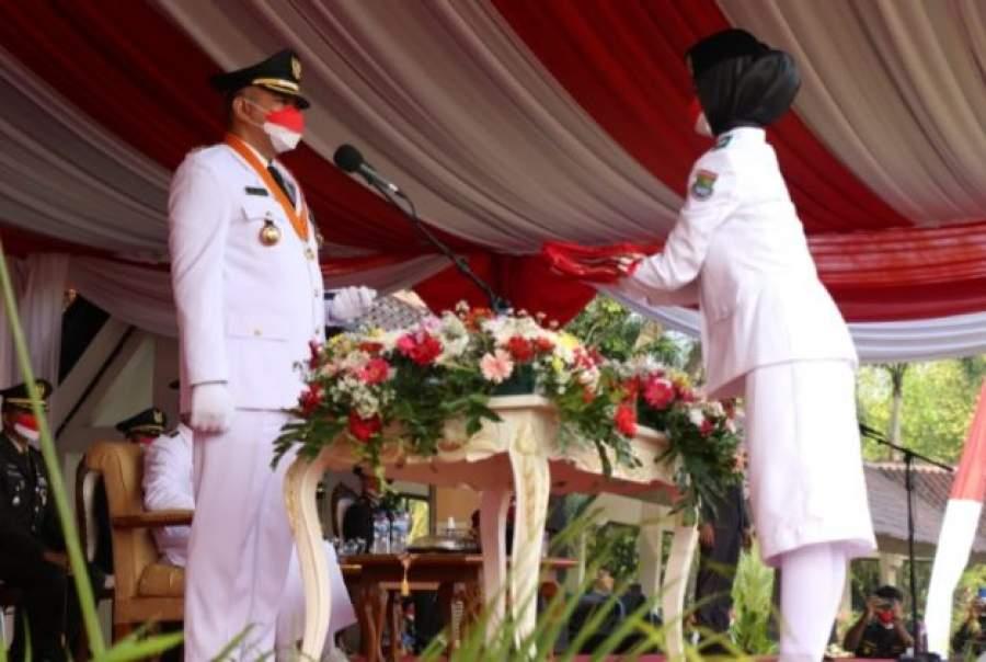 Upacara Peringatan Detik-Detik Proklamasi Kemerdekaan RI ke-76  di Kabupaten Tangerang Berlangsung Khidmat dan Sederhana
