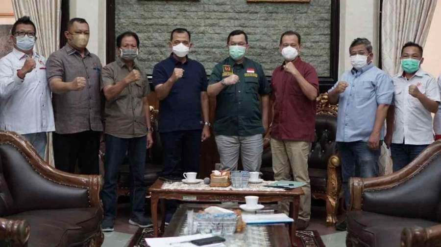 PLH Bupati OKU Terima Kunjungan Ketua Umum KONI Sumsel